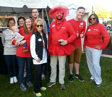 Several MedCost employees at the 2016 Heart Walk
